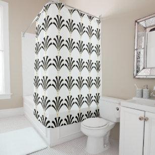 1920s Art Deco Vintage Palmettos Shower Curtain
