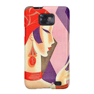 1920s Art Deco Woman Galaxy S2 Covers