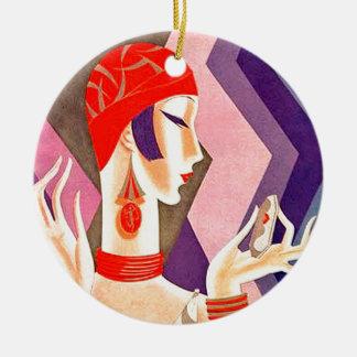 1920s Art Deco Woman Ceramic Ornament