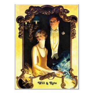1920s Art Nouveau Custom Formal Post Cards