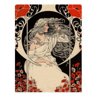 1920's Art Nouveau Postcard