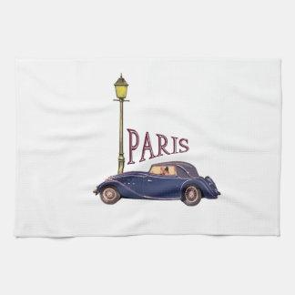 1920's Automobile - Paris Kitchen Towels