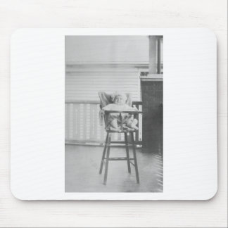 1920's Baby in Highchair Mouse Pad