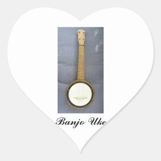 1920s Banjo Uke Heart Sticker