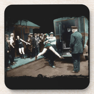 1920's Bathing Suit Arrests Coaster