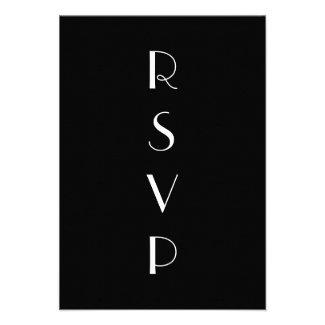 1920's Black & White RSVP