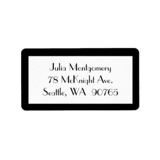 1920's Black & White RSVP Address Label