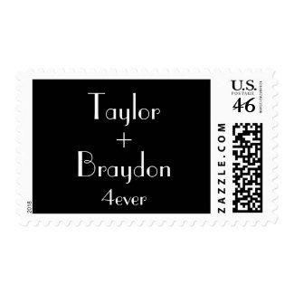 1920's Black & White Wedding Stamp