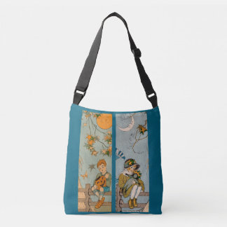 1920s boy and girl in autumn crossbody bag
