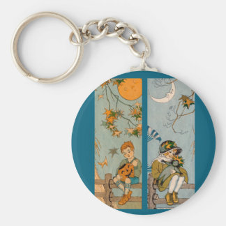 1920s boy and girl in autumn keychain