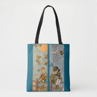 1920s boy and girl in autumn tote bag