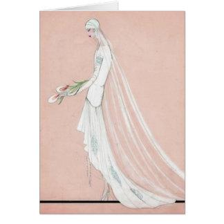 1920's Bride Card