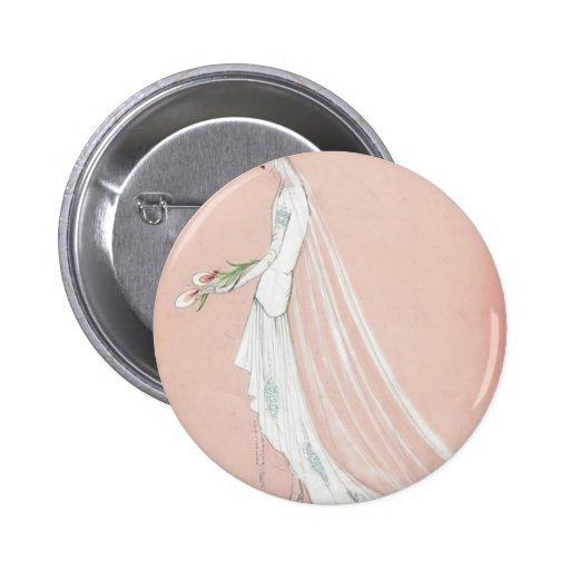 1920's Bride Pinback Buttons