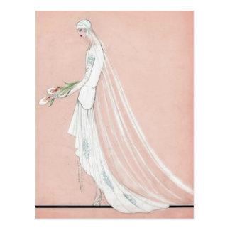 1920's Bride Postcard