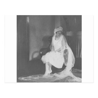 1920's Bride waiting at church Postcard