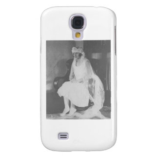 1920's Bride waiting sitting in chair Galaxy S4 Cover
