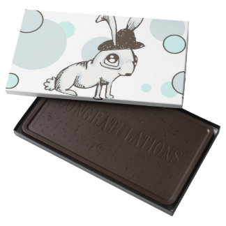 1920s Bunny Polka Dot Dark Chocolate Bar