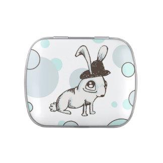 1920s Bunny Polka Dot Jelly Belly Tin
