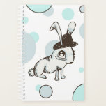 "1920s Bunny Polka Dot Planner<br><div class=""desc"">This whimsical design was originally an ink sketch.</div>"