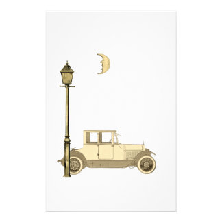 1920's Car and Street Lamp Customized Stationery