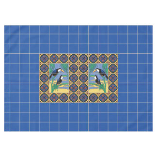 1920s Catalina Island Toucans Tile Design Tablecloth