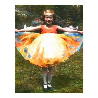 1920s Child Bright Dress Letterhead