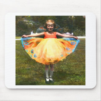 1920s Child Bright Dress Mouse Pad