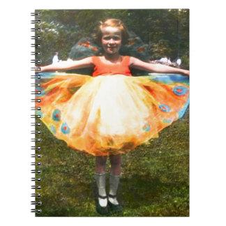 1920s Child Bright Dress Notebook