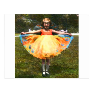 1920s Child Bright Dress Postcard