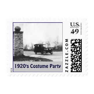 1920's Costume Party Postage