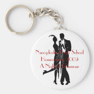 1920's couple, Nacogdoches High SchoolHomecomin... Basic Round Button Keychain