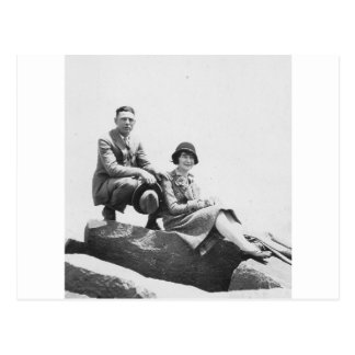 1920's Couple on Vacation Post Card