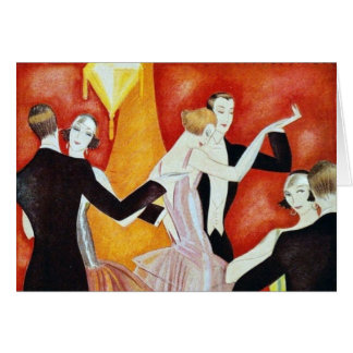 1920's Dancing Couples Card