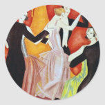1920's Dancing Couples Classic Round Sticker