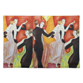 1920's Dancing Couples Cloth Placemat