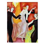 1920's Dancing Couples Postcard