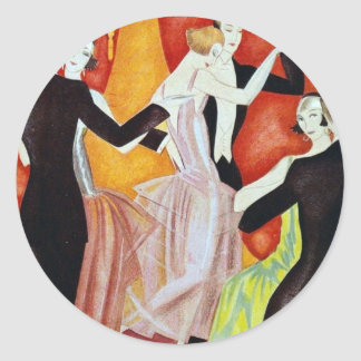 1920's Dancing Couples Sticker
