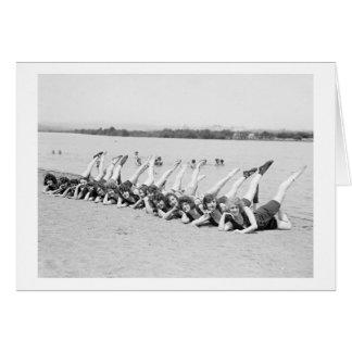 1920s Dancing Girls Card