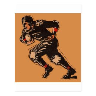 1920's Era FOOTBALL Player Illustration Postcard