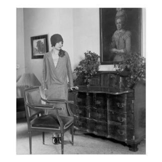 1920s Fashion Cloche Hat Posters