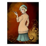 1920s Fashion - Georgette the FLapper Girl Posters