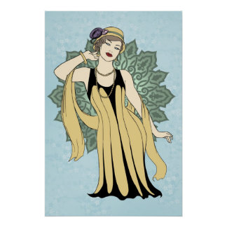 1920s Fashion Pinup - Daisy Poster