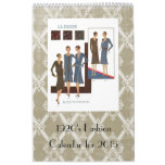 1920's Fashion Vintage Illustrations Wall Calendars