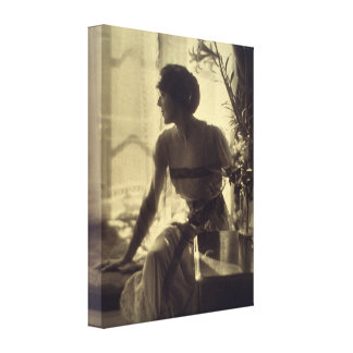 1920s Fashion Woman Elegant Dress Canvas Print