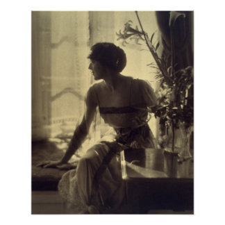 1920s Fashion Woman Elegant Dress Poster