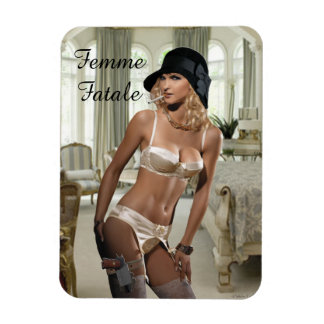 1920's Femme Fatale Diva - Smoking and Guns Magnet