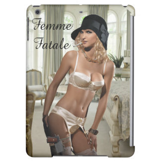 1920's Femme Fatale - Smoking and Guns iPad Air Covers
