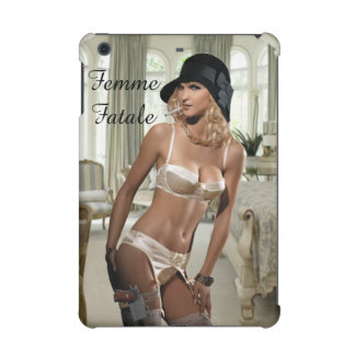 1920's Femme Fatale - Smoking and Guns iPad Mini Cases