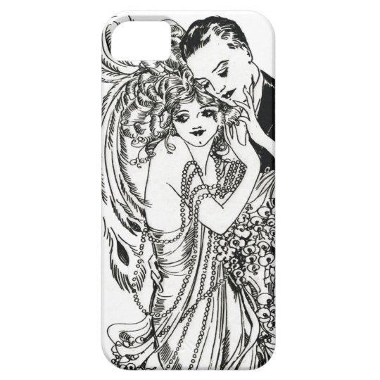 1920s Flapper Beauty iPhone Case