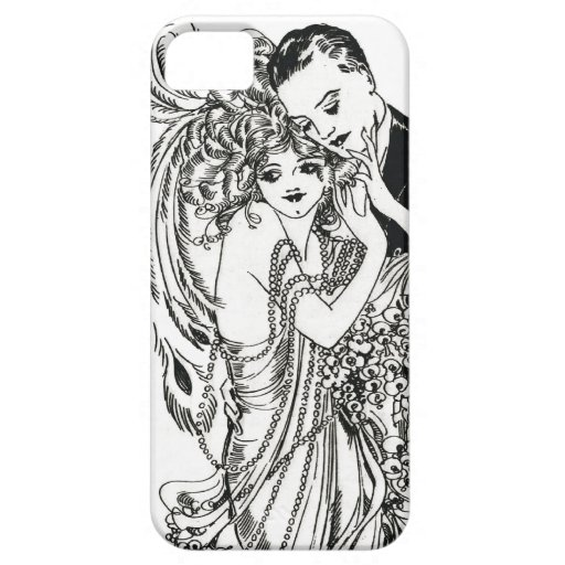 1920s Flapper Beauty iPhone Case iPhone 5 Cases